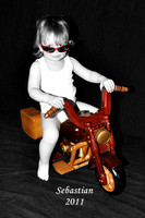 Motorcycle (wb) colorized  4x6